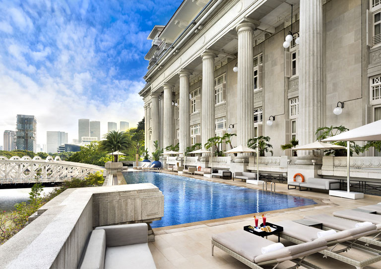 The Fullerton Hotel Singapore Hotel With Infinity Pool Facilities